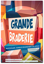 Affiche Grande Braderie Cartoon
