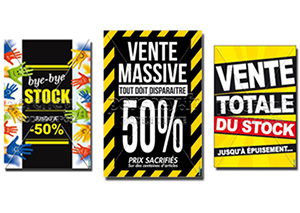 Affiches destockage