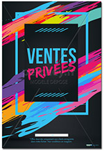 AFFICHE Vente Privée Flash